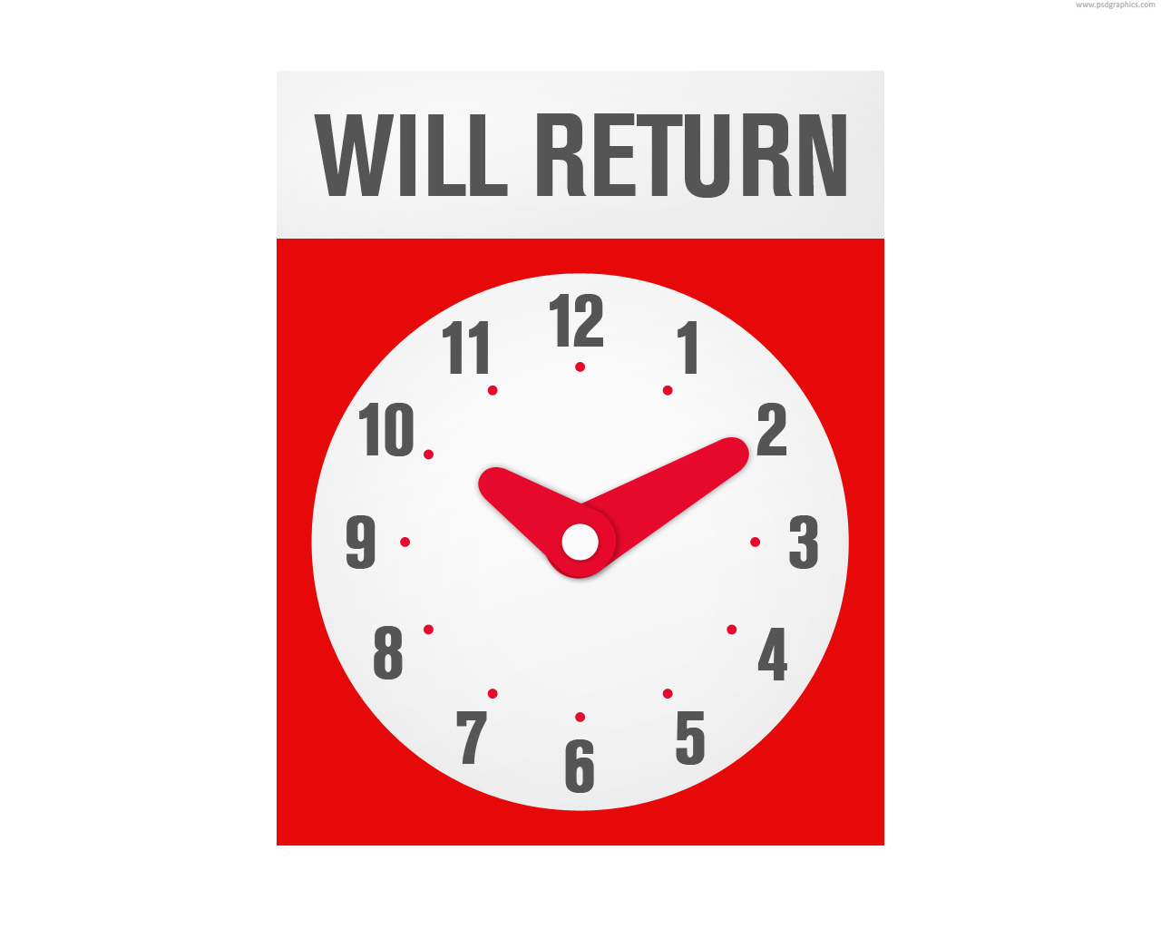 picture regarding Will Return Sign Printable named Will return indicator (PSD) PSDGraphics
