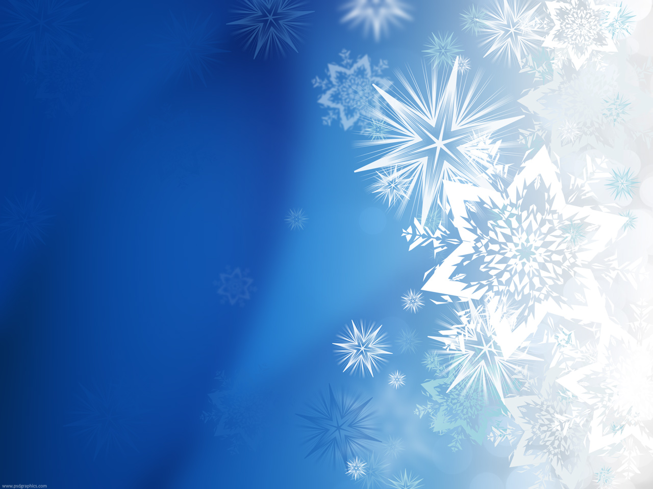 Medium size preview (1280x960px): Winter snowflakes background