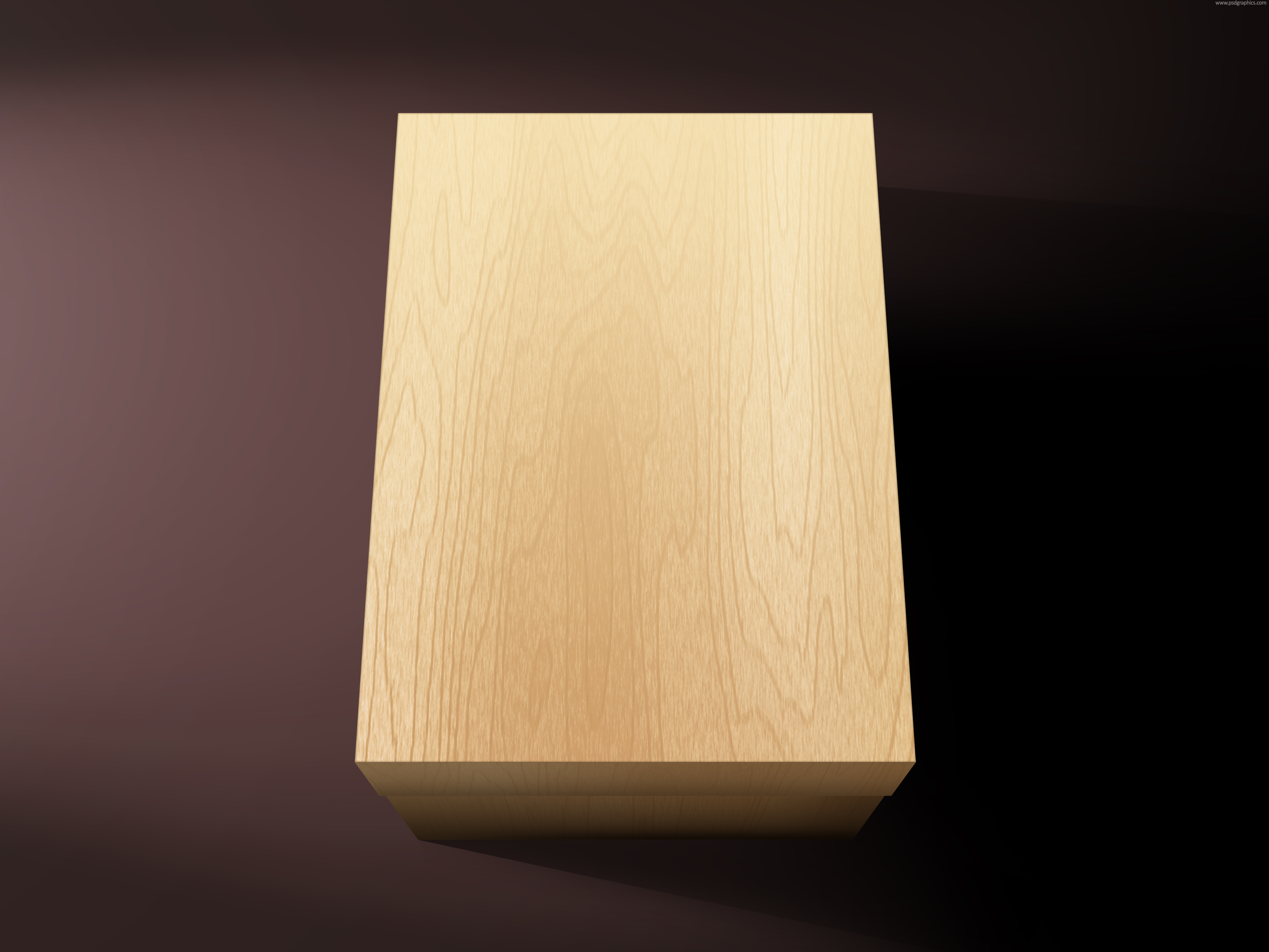Blank Wooden Box Psdgraphics