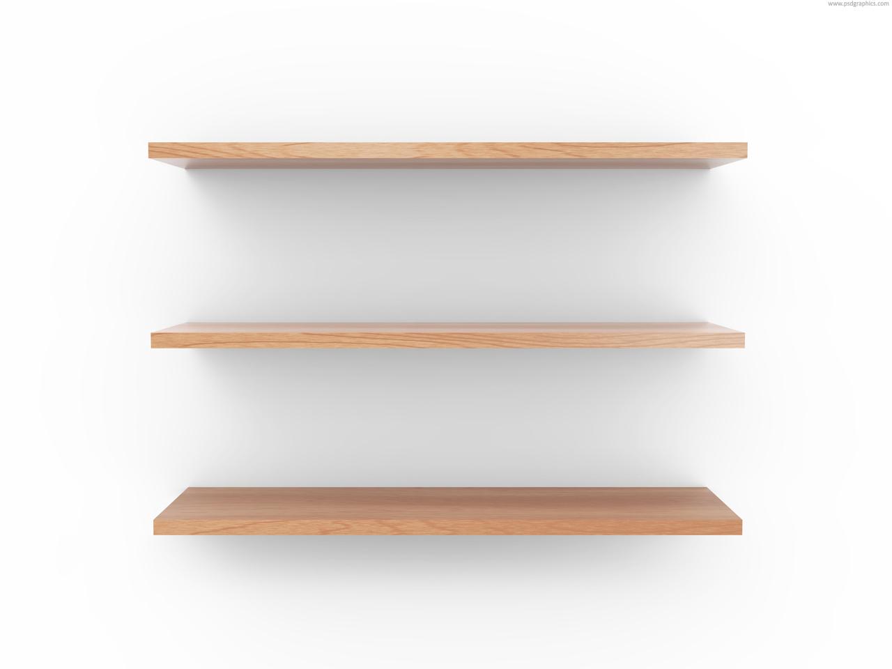 Medium size preview (1280x960px): Wooden shelf