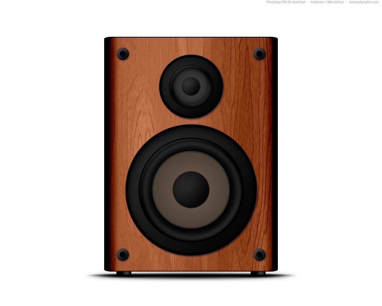 Wooden Speaker Icon Psd Psdgraphics