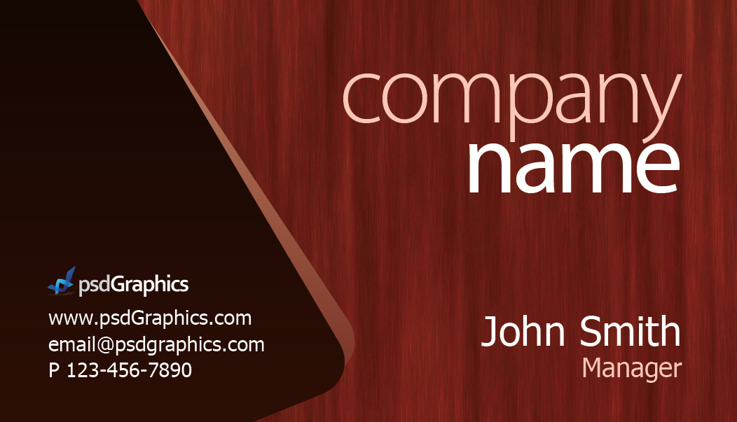 Photoshop business card templates geccetackletarts wooden theme business card template psdgraphics wajeb Images
