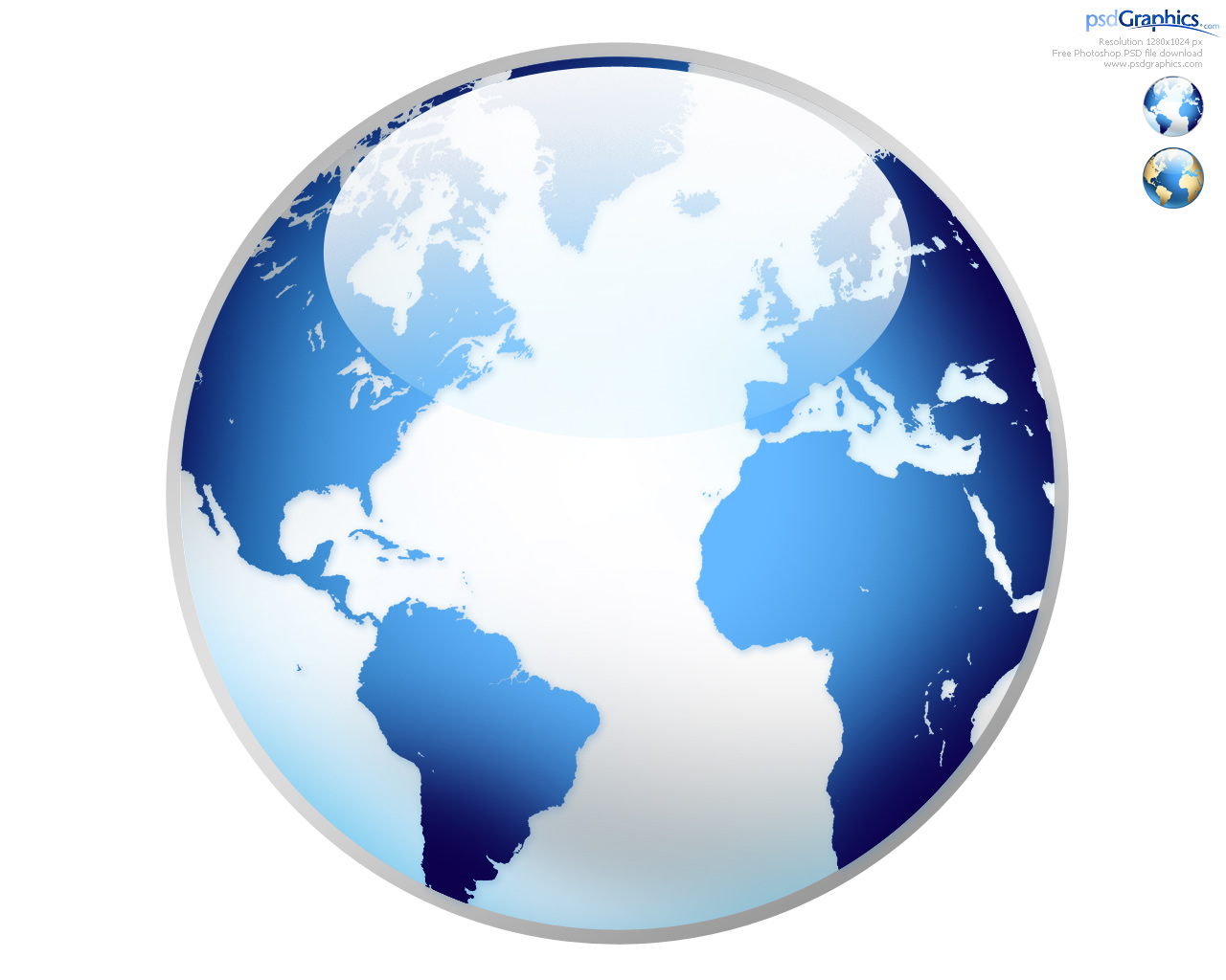 Photoshop world globe icon | PSDGraphics