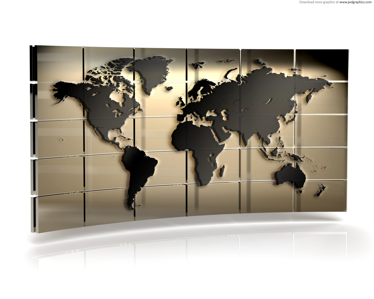 World map wall | PSDGraphics