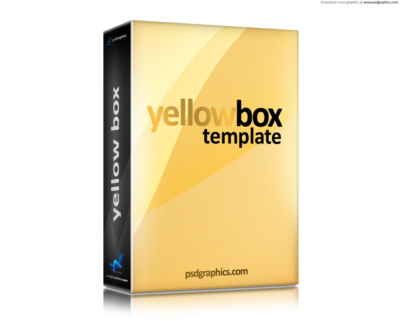 Yellow Software Box Template