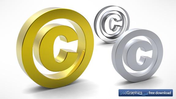 3D opyright symbol