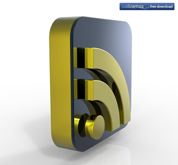 gold RSS icon 4