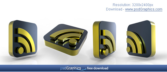gold rss icons