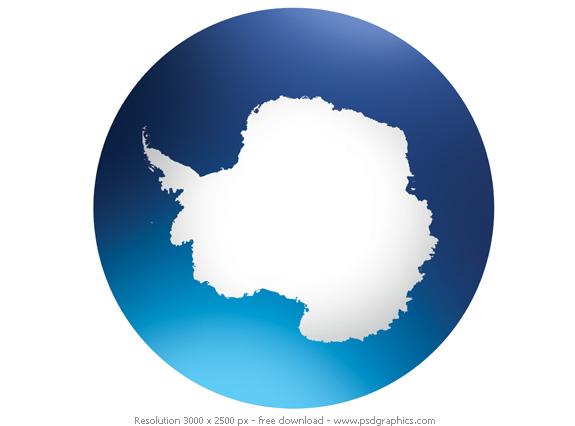 antarctica globe