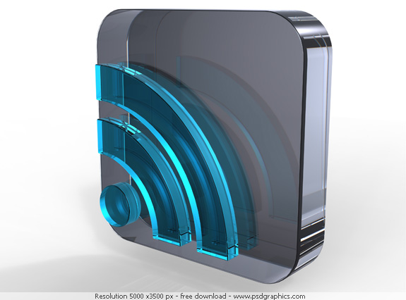 blue crystal rss icon