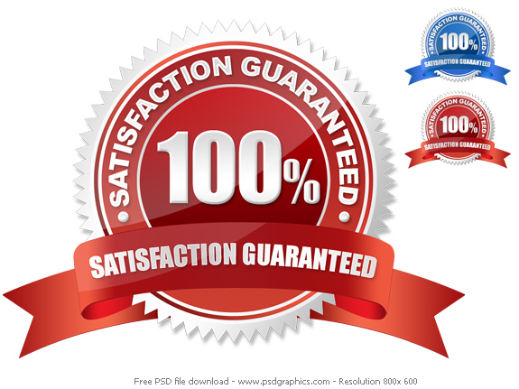 red and blue guarantee seals