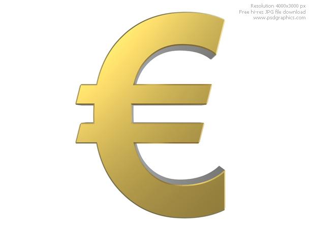 Gold Euro Symbol Psdgraphics