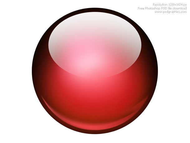 glossy ball icon