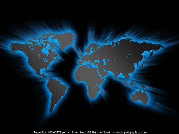 glowing world map background