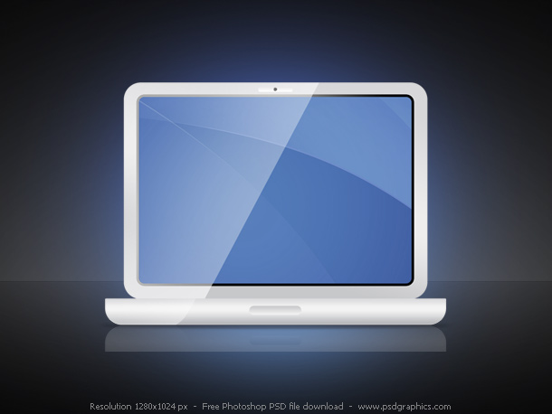 psd laptop icon