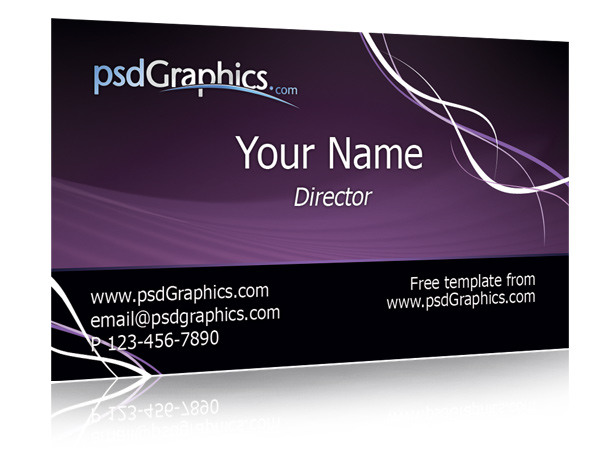 purple business card