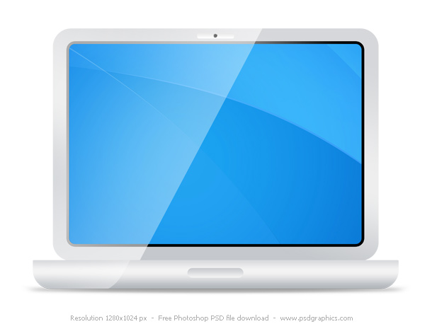 white laptop icon