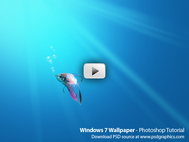 Recreate Windows 7 wallpaper in Photohop. 10 minutes HD video Photoshop