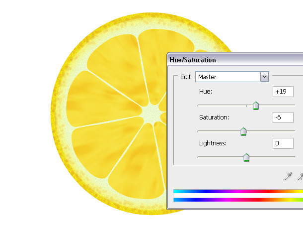 lemon hue saturation