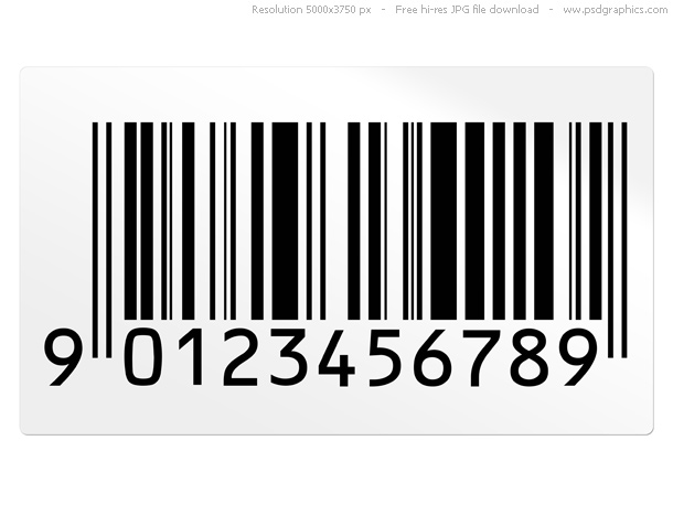 bar code image. Barcode stickers on white