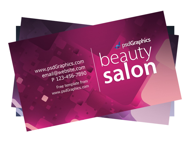 Beauty salon business card template psdgraphics beauty salon business card cheaphphosting
