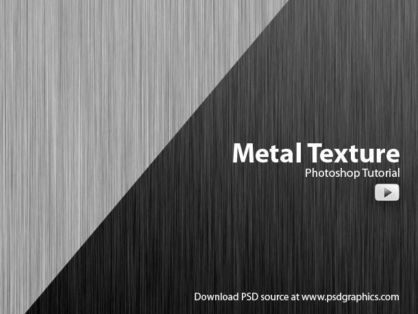metal texture photoshop video tutorial