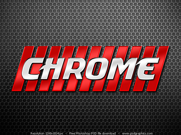 photoshop chrome