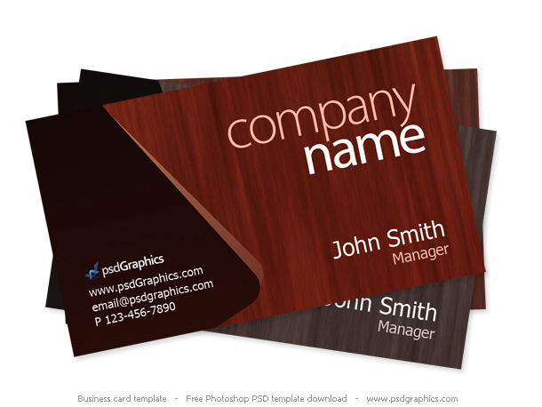 Wooden Theme Business Card Template PSDGraphics - Business card designs templates