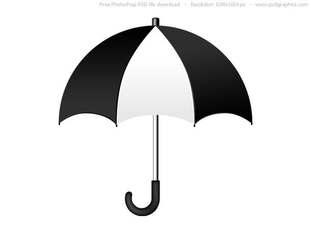 black white umbrella