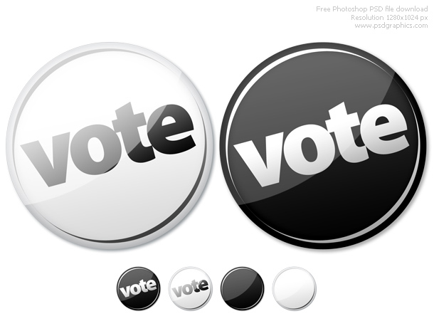 psd vote empty buttons