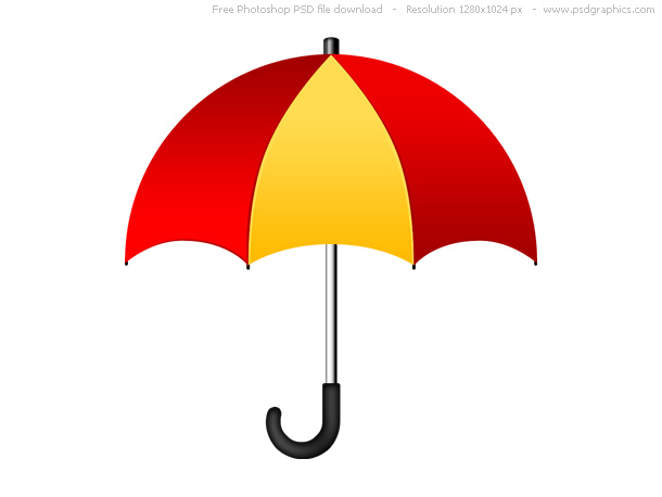 red yellow umbrella