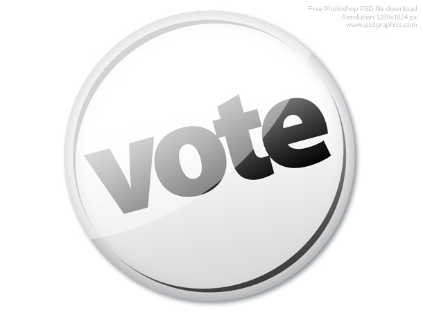 white vote badge