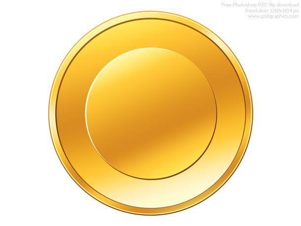 empty gold coin