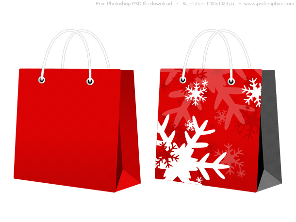 red christmas bags