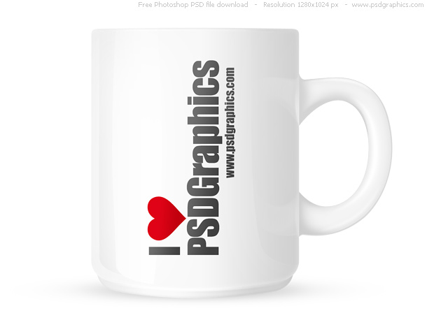 psd graphics mug