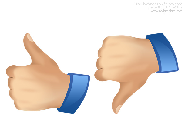 thumbs up down icons
