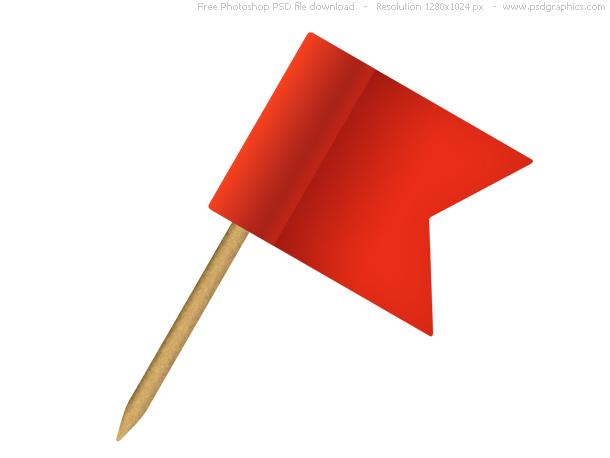pushpin flag