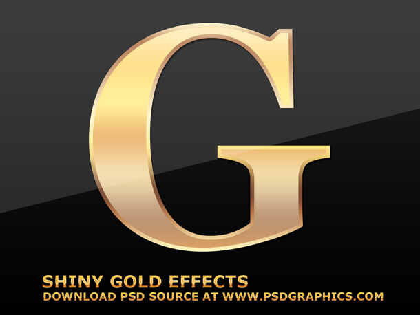 Gold Text Effects In Photoshop Psdgraphics
