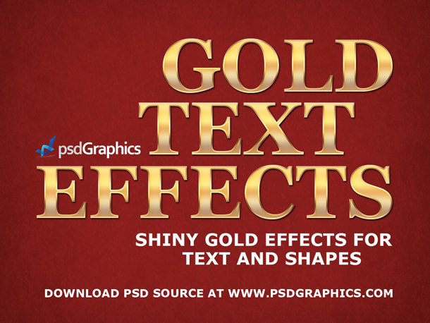 gold text photoshop