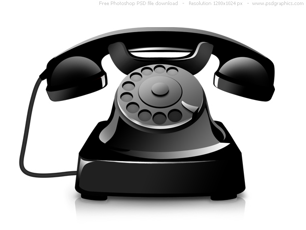 Modern office telephone icon (PSD) | psdGraphics