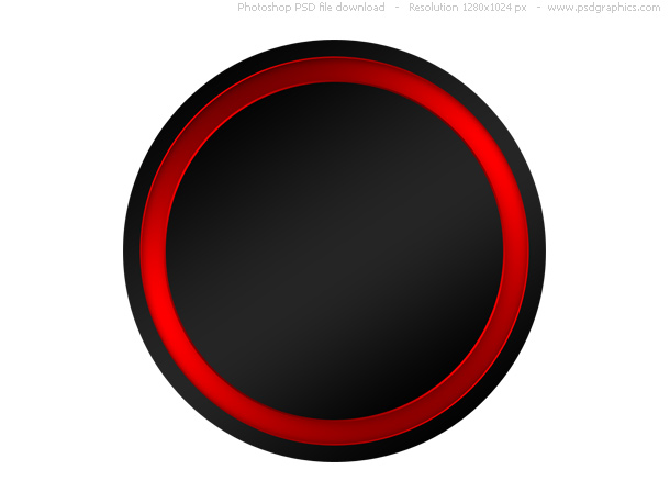 blank black button
