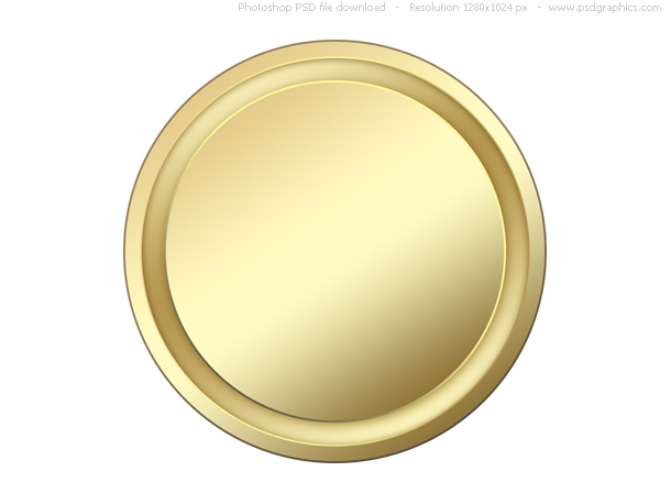 blank gold button