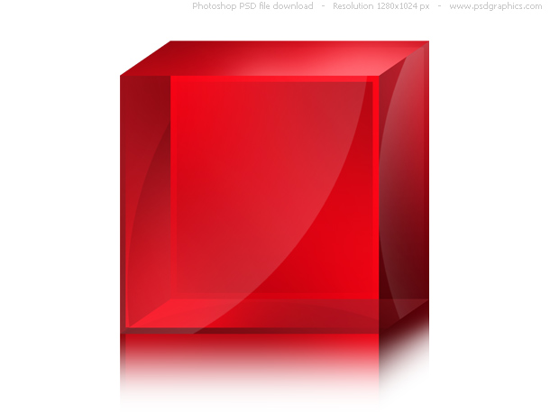 glossy red box