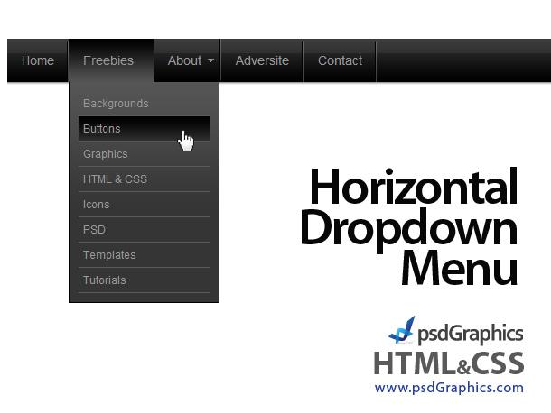 PSD web navigation, HTML and CSS menus set | PSDGraphics