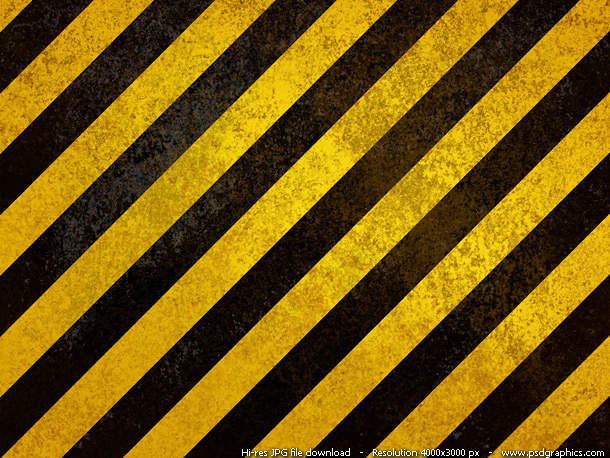 old hazard stripes