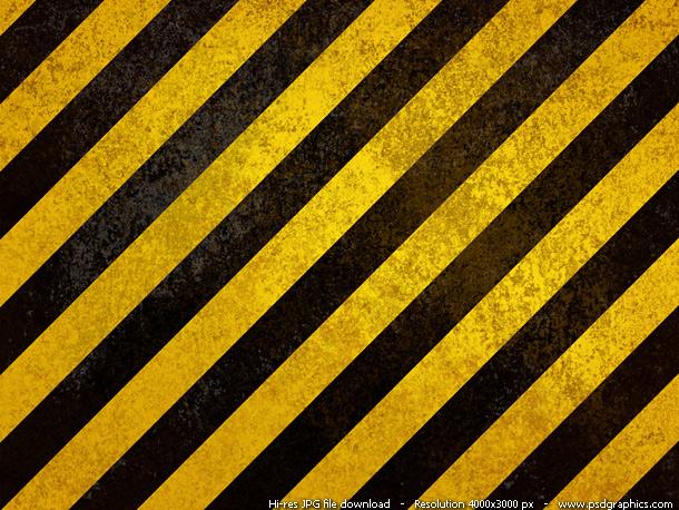 old hazard stripes