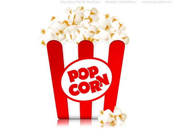 Box of popcorn icon psd psdgraphics - Como hacer palomitas de maiz ...