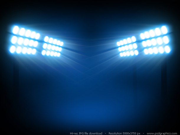 Stadium floodlights backgrounds | PSDGraphics