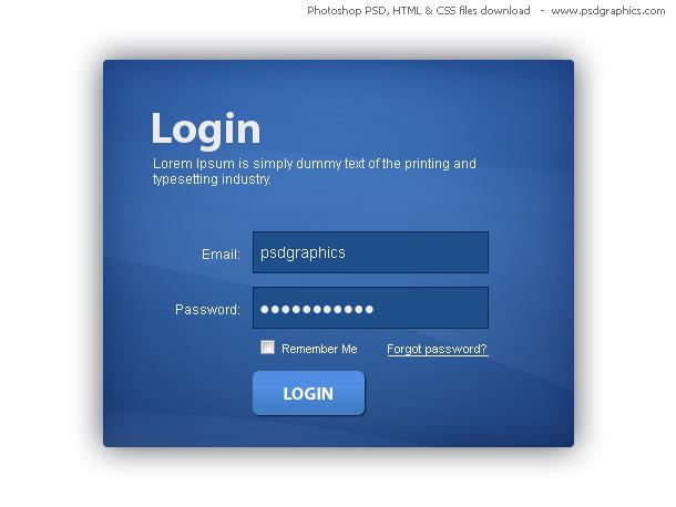 login box html