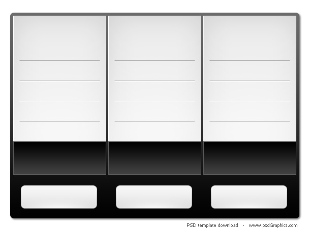 blank table template